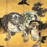 唐獅子図屏風(右隻)